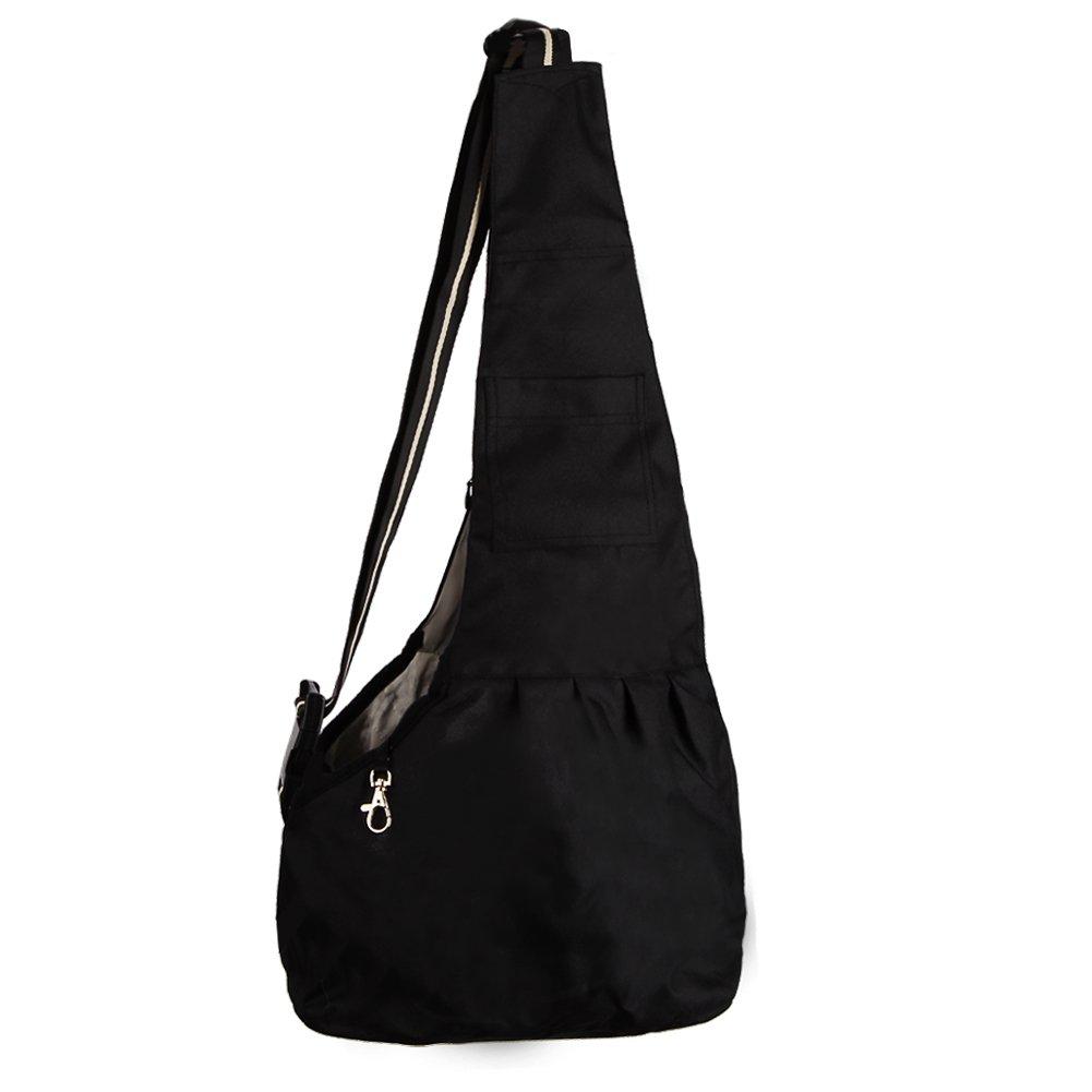 Funkeen Dog Cat Sling Carrier pouch Bag Handbag for Small MEDIUM Pet Black