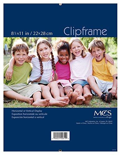 MCS 8.5x11 Inch Document Clip Frame, Clear (40942) (Frameless Clip Frames)