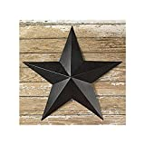 The Country House Collection 12 Inch Black Barn Star