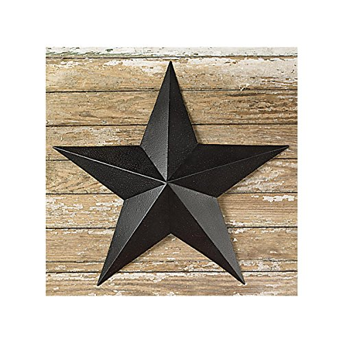 (The Country House Collection 6 Inch Black Barn Star)