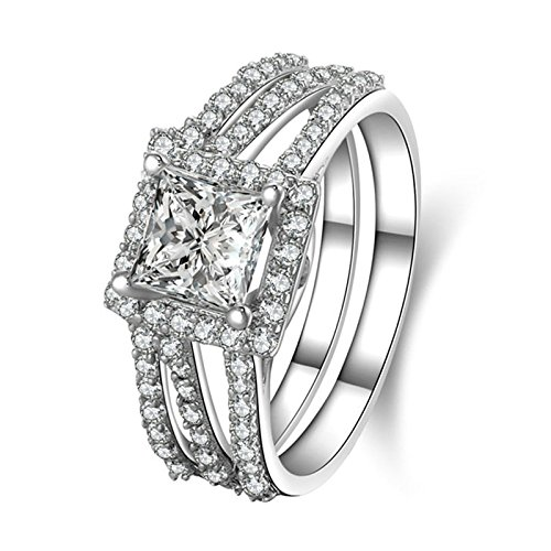 n Engagement Rings Infinity Band 3 Row Cubic Zirconia Double Rings Size 7 (Four Paws Toothpaste)