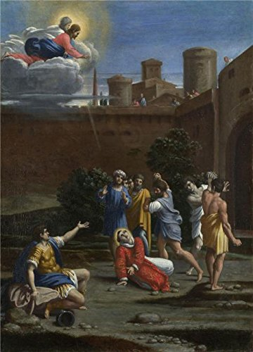 Oil Painting 'Antonio Carracci - The Martyrdom Of Saint Stephen,about 1610' Printing On Perfect Effect Canvas , 24x33 Inch / 61x85 Cm ,the Best Wall Art Gallery Art And Home Artwork And Gifts Is This Beautiful Art Decorative Canvas Prints