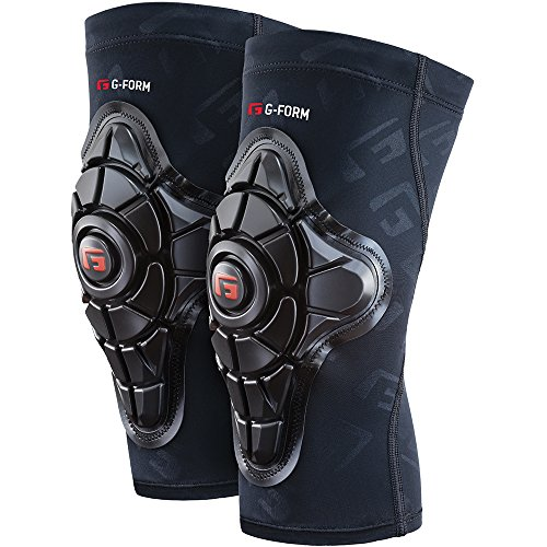 G-Form Pro-X Knee Pads(1 Pair), Black Logo, Youth Small/Medium