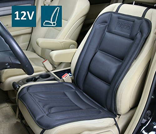 ObboMed SH-4160 12V 45W Heated Seat Cushion Cover with Lumbar Support, Deluxe Model with Premium Tight Fit Cigarette Lighter Plug, Special Fitting (Vertical or Horizontal), Car , Automobile, Vehicle