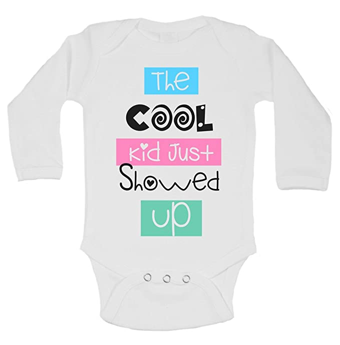 ff6f54c7a The Cool Kid Just Showed Up Funny Kids Boys or Girls Onesie Bodysuit 0-3