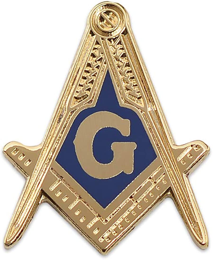 Freemasons Square and Compass with Jewel Masonic Lapel Pin LP15