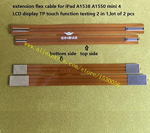 Gimax extension flex cable for iPad A1538 A1550 mini 4 LCD display TP touch function testing 2 in 1,lot of 2 pcs