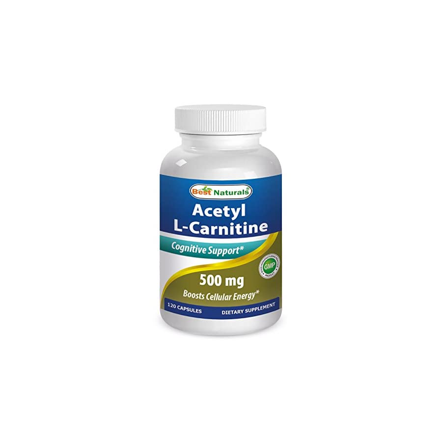 Best Naturals Acetyl L Carnitine 500 Mg 120 Capsules