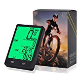 Pronghorn Wireless Computer Bike,Bicycle Speedometer,Cycling Odometer,Multifunction with Extra Large LCD Backlight Display Waterproof (Black)