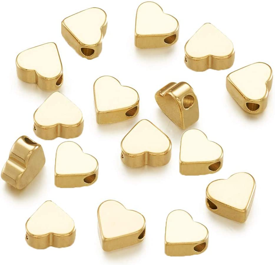5 mm silver tone Lot of 73 Bali Style heart shaped Spacer Beads