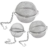 Lyxa SR 3 Pack Piece Set Stainless Steel Mesh Tea Ball Tea Infuser Strainers Tea Strainer Filters Tea Interval Diffuser…
