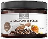 Bleaching Skin Cost - Body Scrub 15 oz, Arabica Coffee Scrub with Honey, Sea Salt, VB, VE (Natural Exfoliator, Skin Moisturizer, Cellulite Treatment, Tan Remover) - Anjou