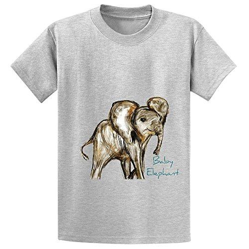 Baby Elephant Blue Kid's Crew Neck Print T Shirt (Schmidt Beer Glasses)
