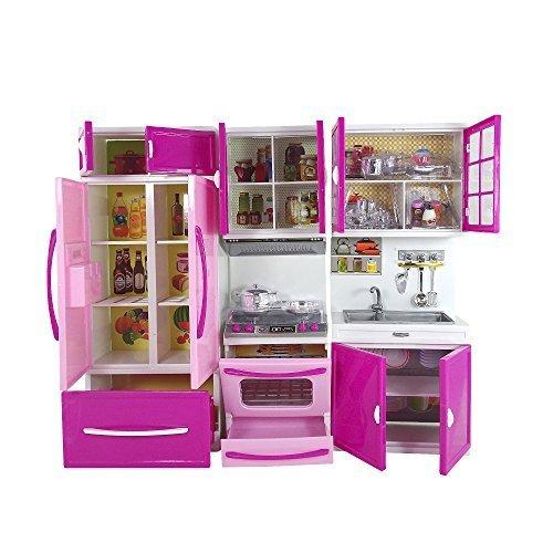 Kitchen Set Toys Price: Doll Size Modern Kitchen Play Set Toy Fridge Toy Stove Toy