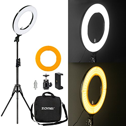 Infrared Range Plastic (Zomei 14-inch Outer Dimmable SMD LED Ring Light Kit (41W 5500K) with 70-inch Light Stand - Plastic Color Filter - Phone Holder & Carrying Bag for Makeup Camera Smartphone Youtube Video Shooting)