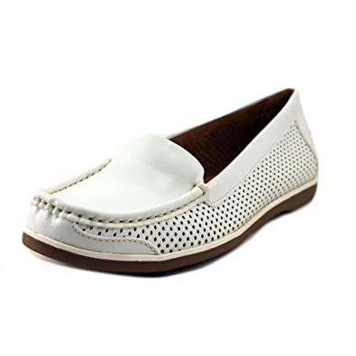 Naturalizer Women's Henrick Comfort Shoes Round Toe Loafer, White, ...