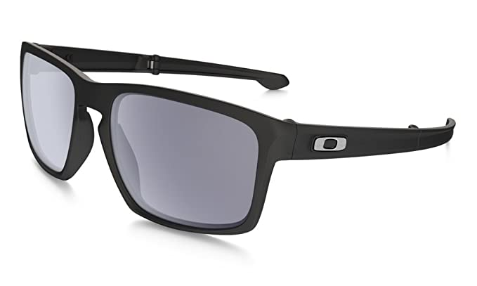 mens glasses oakley xhx4  Oakley Men's Sliver F Rectangular Sunglasses, Matte Black,