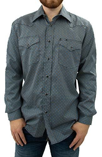 (STARR Western Print Snap Shirt XL)