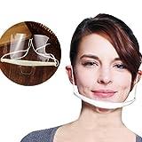 Gofypel Transparent Health Masks Hygienic Face Mask Tattoo Dental Health Care Cooking Rstaurant Smile Mouth Masks 10pcs