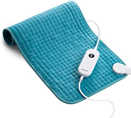 Homech Electric Heating Pads for Back Pain and Cramps Relief – Large [12″x24″] – Ultra-Soft Heat Pad with Moist & Dry Heat Therapy Options – Auto Shut Off – 6 Temperature-Hot Heated Pad