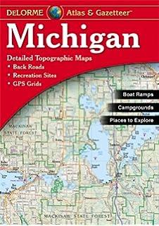 Michigan atlas gazetteer delorme mapping company 9780899333359 michigan atlas gazetteer delorme atlas gazeteer gumiabroncs Gallery