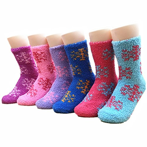 Premium Women's Winter Socks By Ehouna – Extremely Thick & Soft Design, Incredibly Warm & Comfortable Women Socks, Birthday gift , Christmas Or Valentine's Day Gift – 6-Pack (Snow White Outfit Ideas)