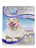 Soft Claws Feline Nail Caps, Small, Silver Sparkle