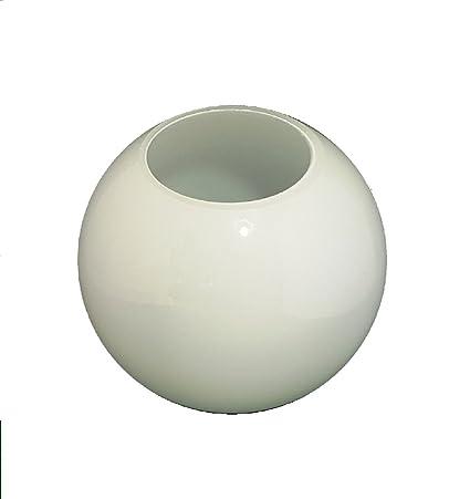 3 Sizes replacement, round, ball Splayed Neck White Glass Globe Lamp Shades