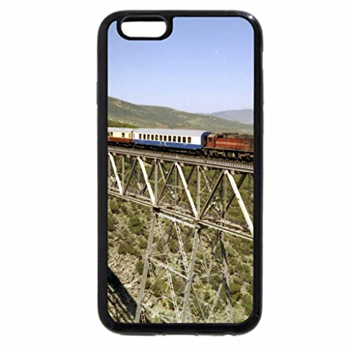 iPhone 6S / iPhone 6 Case (Black) workhorse train on a tall bridge over a gorge
