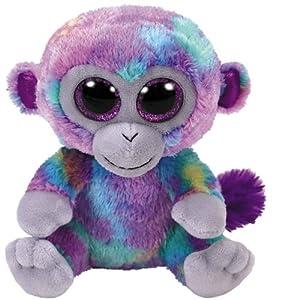 "Ty Beanie Boo Zuri the Colorful Monkey 10"" Medium Size"