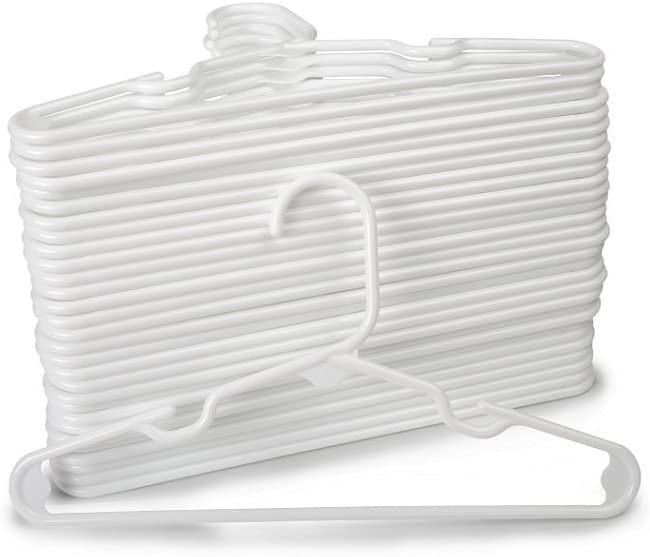 1InTheHome White Nursery Hangers 30 Pack for Baby, Toddler, Kids, Children (30 Pack)