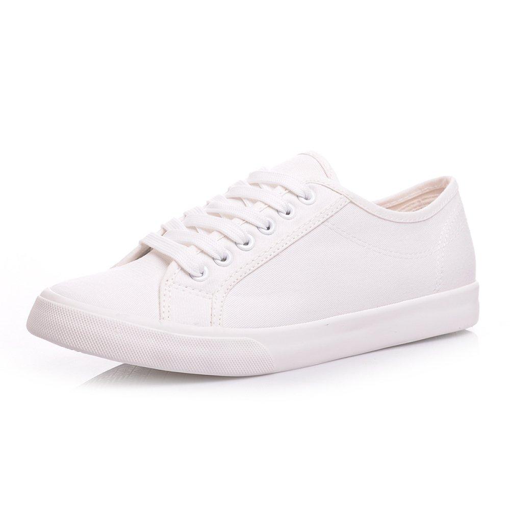 WFL Zapatos Blancos,Blanco,39 de Lona Zapatos de Blanco Hombres ...