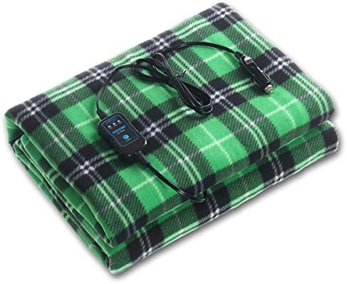 ELUTO Electric Blanket 12V Polar Fleece Blanket Blanket for Trucks Winter Cold Weather Electric Blanket 60 x 43.5 Inch