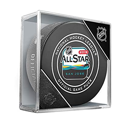 20647e755 Amazon.com: 2019 NHL All-Star Game Official Hockey Puck in Cube (San Jose): Sports  Collectibles