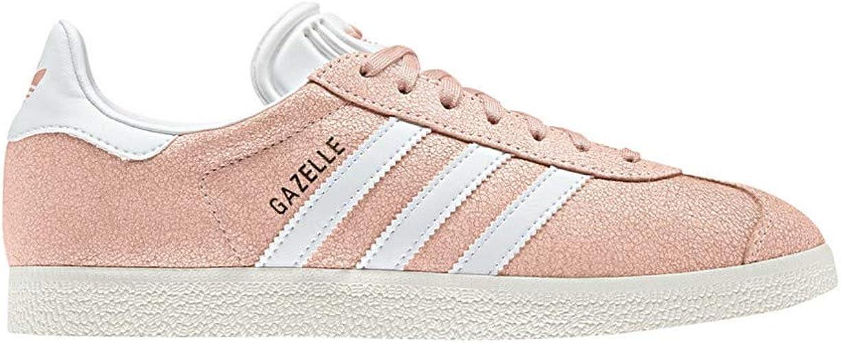 adidas Womens Gazelle Casual Sneakers, Orange, 9