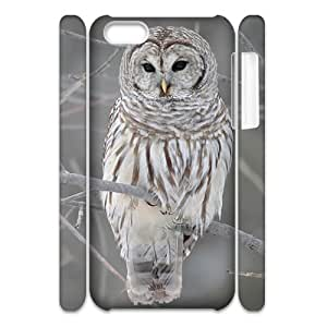 3D [Owl Series] IPhone 5C Cases Barred Owl, Dustin - White
