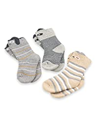 CoCoCute Baby Socks - 3 Pairs Thick Winter Toddler Socks Infant Kid Warm Cotton Socks