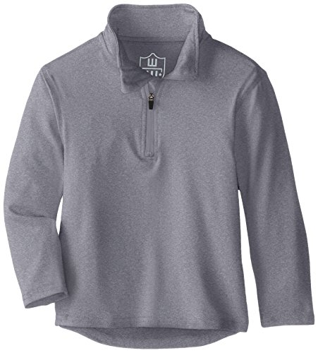 Wes and Willy Boys Performance Pullover Quarter Zip Top, Heather ()