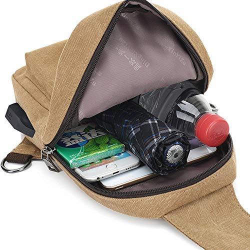 Bandolera Funda Uni bolsa para de oficina Canvas Bolsa Viaje Business Bolsa Deporte Crossbody Hombre bolsas hombro lona hombro clásico Hombre maletín trabajo rta8rxq
