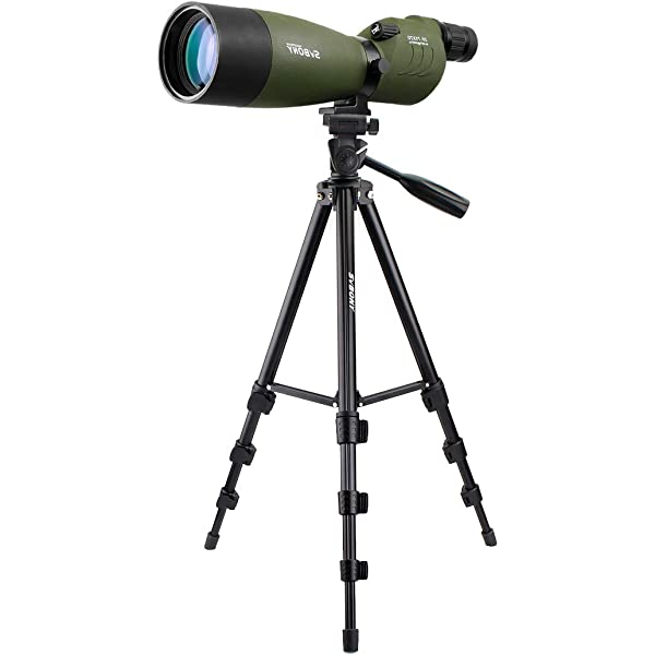 Svbony SV41 25-75x70 MAK Spotting Scope Bak4 Porro Prism Fully Multi-coated IPX7 Waterproof Mini Telescope Monocular with 57.5 Tripod