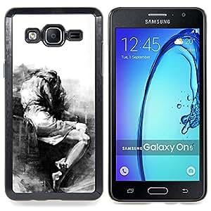 For Samsung Galaxy On5 O5 Case , Triste Llorando Depresión melancólica Heartbreak - Diseño Patrón Teléfono Caso Cubierta Case Bumper Duro Protección Case Cover Funda