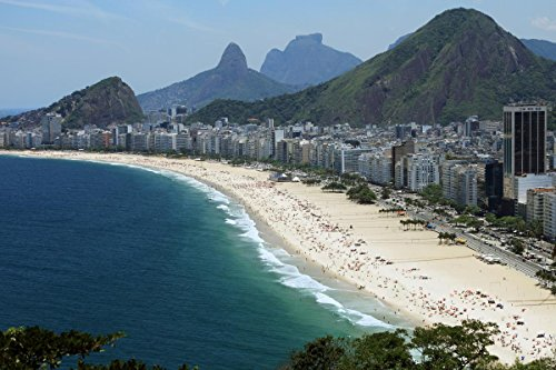 Gifts Delight Laminated 36x24 Poster: Copacabana Beach, Rio de Janeiro Arguably The Best Beach in The World Photos Places BOOMSbeat