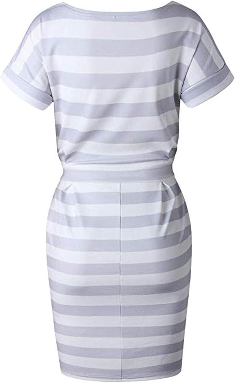 Vestito da Elegante MXYZ Girocollo Casual Slim Mode Mini Abito di Colore Solido da Donna Abiti al Ginocchio da Festa Cocktail