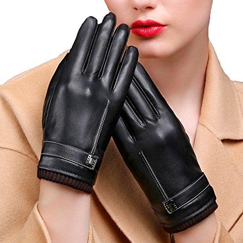容赦ない先見の明モーターSnone手袋 レディース レザー 冬保温 暖かいアウトドア スマホ操作可能 タッチパネル グローブ