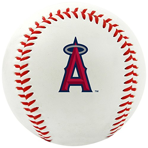 MLB Los Angeles Angels Of Anaheim Team Logo Baseball, Official, (Anaheim White Baseball)