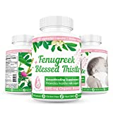 Fenugreek Seed Extract & Blessed Thistle Lactation Supplement By Breast & Baby - All Natural, Non GMO, Gluten Free Breast Milk Production Organic 680mg Potent Herbal Blend