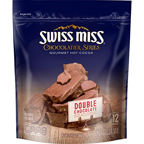 Swiss Miss Chocolatier Series Double Chocolate Gourmet Hot Cocoa Mix, 12.7 oz