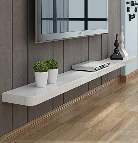 Estante flotante blanco Estantes de TV montados en la pared Soporte de TV moderno Mueble de TV minimalista Decoración de pared Consola de TV Estantes para sala de estar Dormitorio: Amazon.es: Hogar