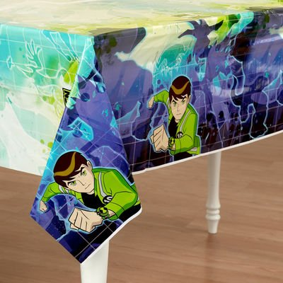 Ben 10: Alien Force 102 Inch X 54 Inch Plastic Tablecover (Ben 10 Table Cover)