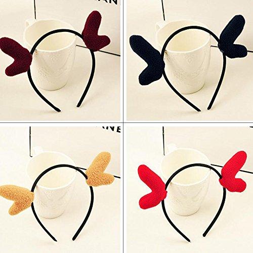 [Yaheeda Women Hair Band Headwear,Cute Fawn Cat Ox Ear Shape Solid Headband for Women and Girls] (Fawn Costume Headband)